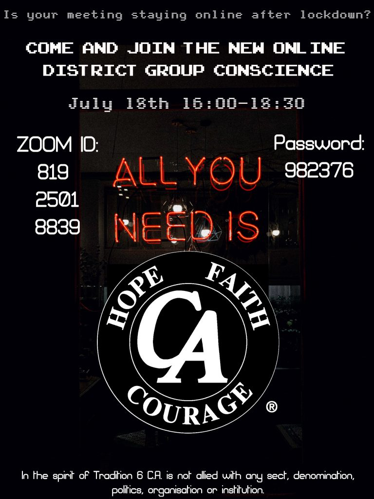 CAUK Online District Conscience