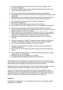 COVID-19 Guidance from CAUK
